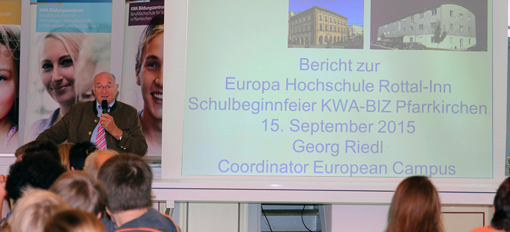 Begrüßungsfeier 2015 im KWA Bildungszentrum