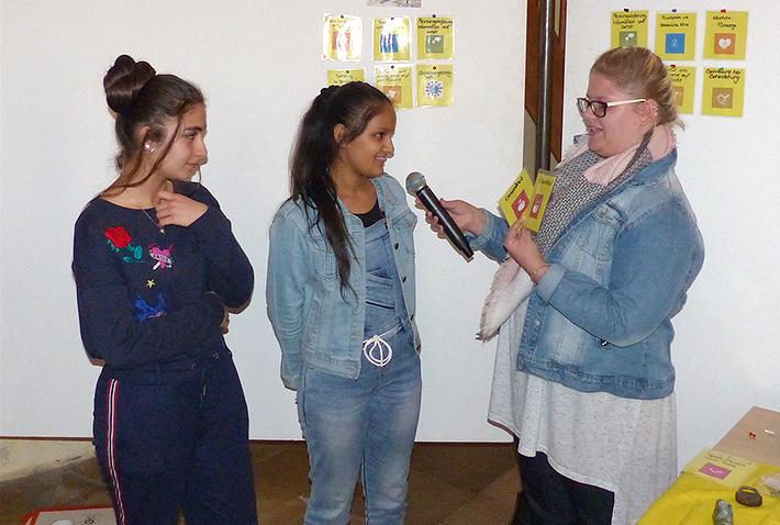 Hier konnte eine Schülerin der KWA Fachakademie für Sozialpädagogik soziale Arbeit mit Schülern in der Praxis erproben.